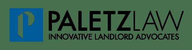 Paletz Law Horizontal Logo signature with descriptor and slogan