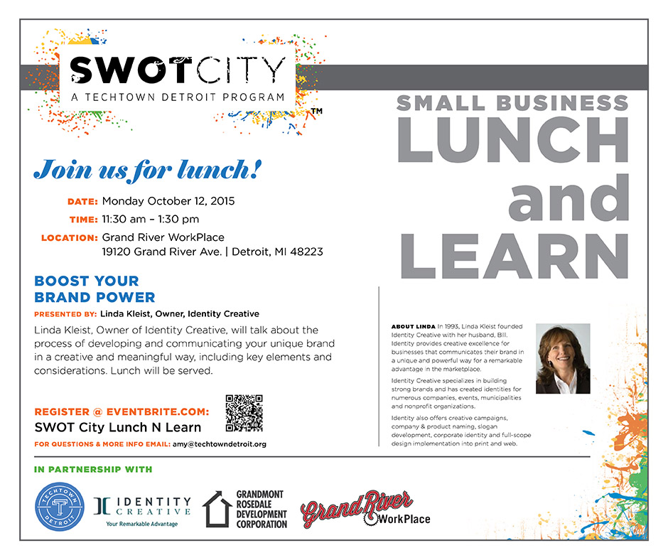 SWOT City Tech Town Linda Kleist Lunch and Learn